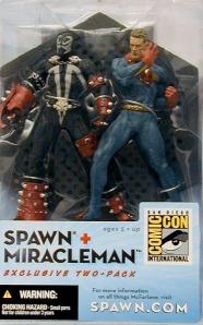 Figuras de Spawn y Miracleman de McFarlane Toys. Ahora valen una pasta.