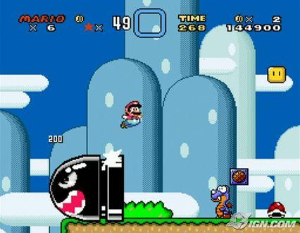 Super Mario World pantalla
