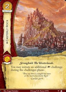 Roca Casterly. Localización Leal Coste 2 Fortaleza. Tierras del oeste. Puedes iniciar un reto adicional de intriga durante la fase de retos.