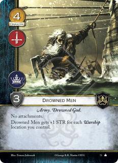 Hombres ahogados Ejército, Dios ahogado Sin accesorios Los hombres ahogados ganan +1 de fuerza por cada barco de guerra que controles.