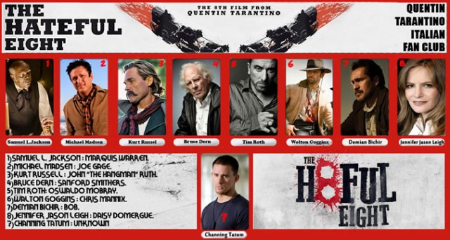 Crying Grumpies - The Heighful eight - Los Ocho Odiosos - Tarantino,- Tim Roth - Samuel L Jackson - Michael Madsen - Ennio Morricone - Sergio Leone
