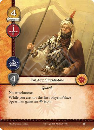 Lancero de palacio Guardia Sin accesorios Mientras no seas el primer jugador, el Lancero de Palacio gana intriga.